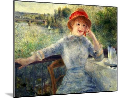 Alphonsine Fournaise at the Grenouillere, 1879-Pierre-Auguste Renoir-Mounted Giclee Print