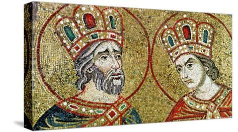Constantine the Great and St. Helena--Stretched Canvas Print