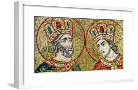 Constantine the Great and St. Helena--Framed Art Print