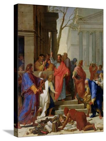 The Sermon of St. Paul at Ephesus, 1649-Eustache Le Sueur-Stretched Canvas Print