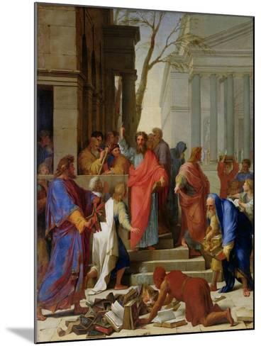 The Sermon of St. Paul at Ephesus, 1649-Eustache Le Sueur-Mounted Giclee Print