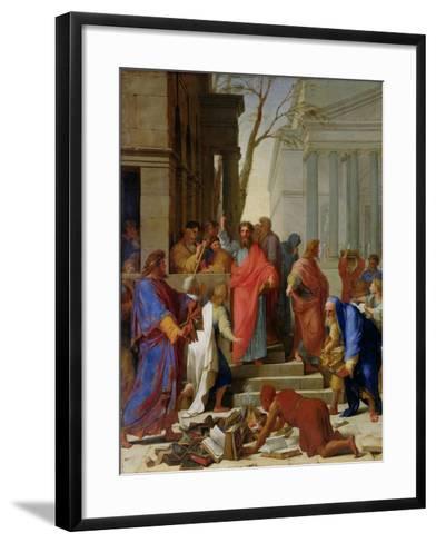 The Sermon of St. Paul at Ephesus, 1649-Eustache Le Sueur-Framed Art Print