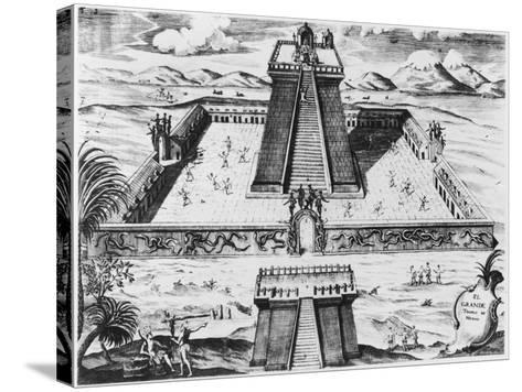 "The Templo Mayor at Tenochtitlan, from ""Historia de Nueva Espana"", 1770--Stretched Canvas Print"