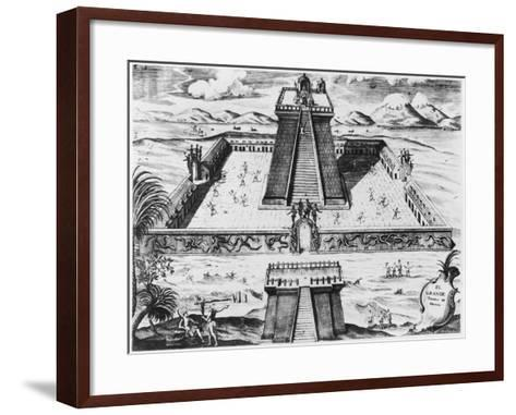 "The Templo Mayor at Tenochtitlan, from ""Historia de Nueva Espana"", 1770--Framed Art Print"