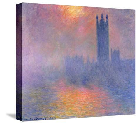 The Houses of Parliament, London, with the Sun Breaking Through the Fog, 1904-Claude Monet-Stretched Canvas Print