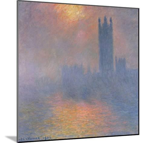 The Houses of Parliament, London, with the Sun Breaking Through the Fog, 1904-Claude Monet-Mounted Giclee Print