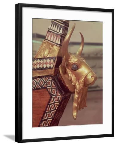 Head of a Bull, Decoration from a Harp, 2800-2300 BC- Mesopotamian-Framed Art Print