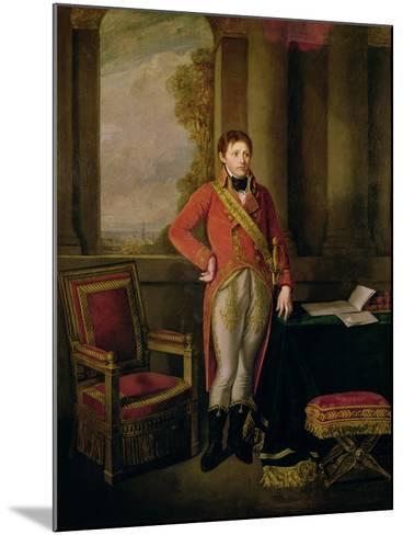 Napoleon Bonaparte as First Consul, 1799-1805-Jean-Baptiste Greuze-Mounted Giclee Print