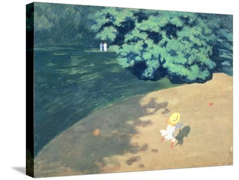 The Balloon or Corner of a Park with a Child Playing with a Balloon, 1899-F?lix Vallotton-Stretched Canvas Print
