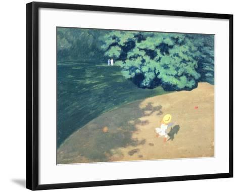 The Balloon or Corner of a Park with a Child Playing with a Balloon, 1899-F?lix Vallotton-Framed Art Print