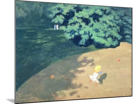 The Balloon or Corner of a Park with a Child Playing with a Balloon, 1899-F?lix Vallotton-Mounted Giclee Print