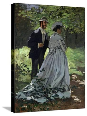 The Promenaders, or Bazille and Camille, 1865-Claude Monet-Stretched Canvas Print