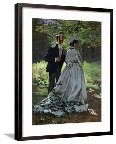 The Promenaders, or Bazille and Camille, 1865-Claude Monet-Framed Art Print