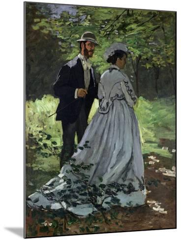The Promenaders, or Bazille and Camille, 1865-Claude Monet-Mounted Giclee Print