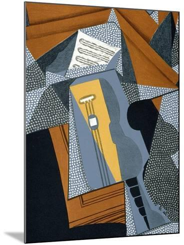 "The Guitar, Illustration for the Poem ""Au Soleil Du Plafond"", by Pierre Reverdy 1955-Juan Gris-Mounted Giclee Print"