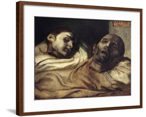Heads of Torture Victims, Study for the Raft of the Medusa-Th?odore G?ricault-Framed Art Print