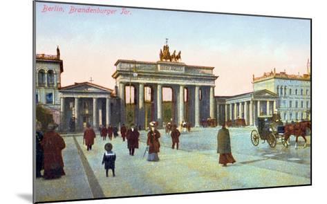 Postcard Depicting the Brandenburg Gate in Berlin, Pre 1914--Mounted Giclee Print