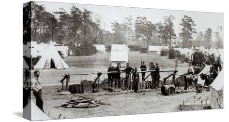 Yankee Headquarters, Camp Whinfield, 3rd May 1862-Mathew Brady-Stretched Canvas Print