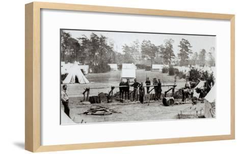 Yankee Headquarters, Camp Whinfield, 3rd May 1862-Mathew Brady-Framed Art Print