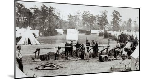 Yankee Headquarters, Camp Whinfield, 3rd May 1862-Mathew Brady-Mounted Giclee Print