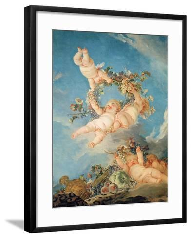 Autumn, from a Series of the Four Seasons in the Salle Du Conseil-Francois Boucher-Framed Art Print