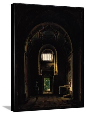 Interior of the Chapel of Saint-Philippe in the Eglise des Feuillants in Paris, 1814-Louis Jacques Mande Daguerre-Stretched Canvas Print
