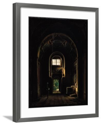 Interior of the Chapel of Saint-Philippe in the Eglise des Feuillants in Paris, 1814-Louis Jacques Mande Daguerre-Framed Art Print