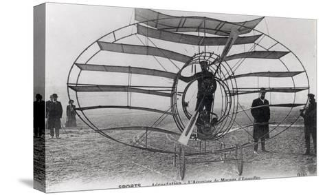 The Aeroplane of the Marquis D'Equevilley, 1908-10--Stretched Canvas Print