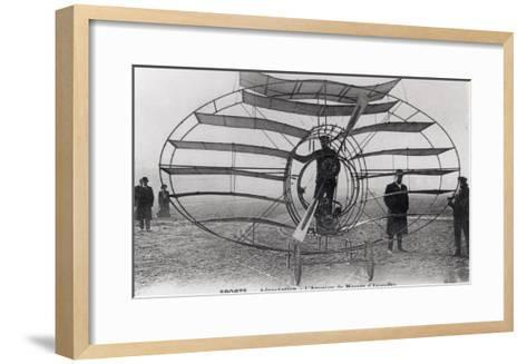 The Aeroplane of the Marquis D'Equevilley, 1908-10--Framed Art Print