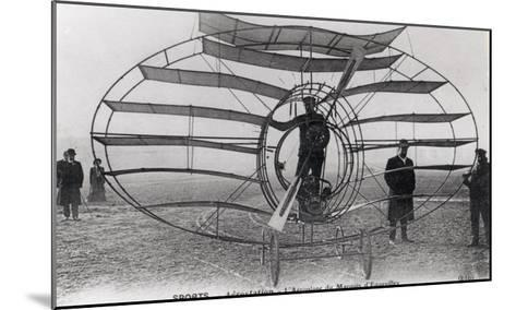 The Aeroplane of the Marquis D'Equevilley, 1908-10--Mounted Giclee Print