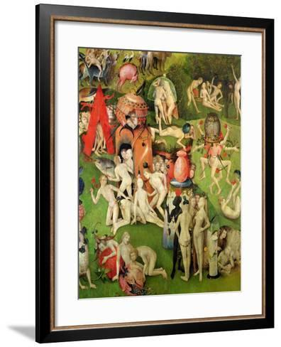 The Garden of Earthly Delights: Allegory of Luxury, Central Panel of Triptych, circa 1500-Hieronymus Bosch-Framed Art Print