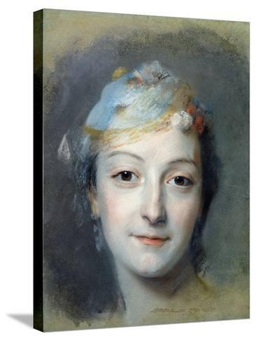 Portrait of Marie Fel 1757-Maurice Quentin de La Tour-Stretched Canvas Print