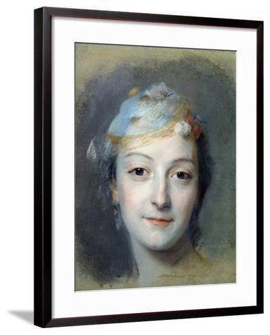 Portrait of Marie Fel 1757-Maurice Quentin de La Tour-Framed Art Print