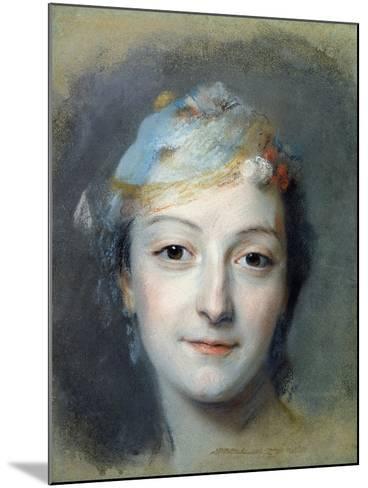 Portrait of Marie Fel 1757-Maurice Quentin de La Tour-Mounted Giclee Print