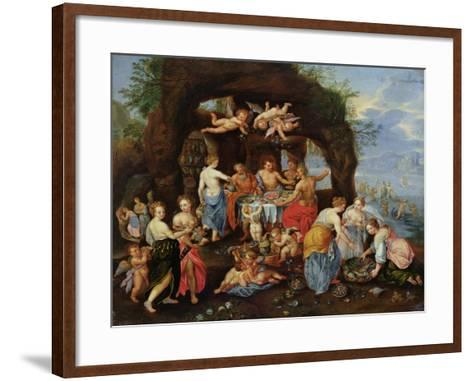 The Feast of the Gods-Jan Van Kessel-Framed Art Print