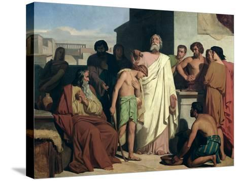 Annointing of David by Saul, 1842-Felix-Joseph Barrias-Stretched Canvas Print