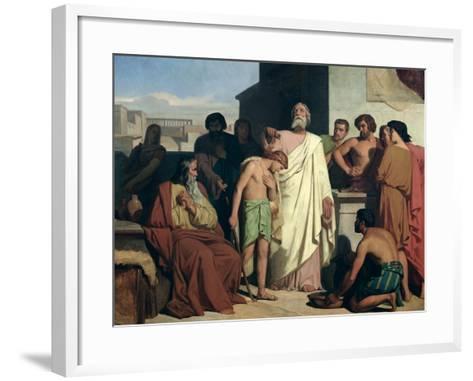 Annointing of David by Saul, 1842-Felix-Joseph Barrias-Framed Art Print