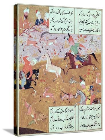 The Royal Hunt, from a Book of Poems by Hafiz Shirazi--Stretched Canvas Print