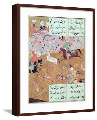The Royal Hunt, from a Book of Poems by Hafiz Shirazi--Framed Art Print