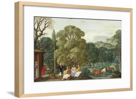 Abraham Entertaining the Three Angels-Johann Or Hans Konig-Framed Art Print