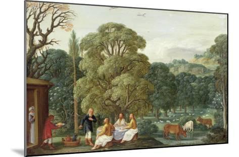 Abraham Entertaining the Three Angels-Johann Or Hans Konig-Mounted Giclee Print