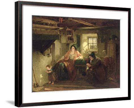 The Ray of Sunlight, 1857-Thomas Faed-Framed Art Print