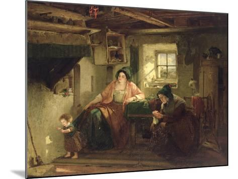 The Ray of Sunlight, 1857-Thomas Faed-Mounted Giclee Print