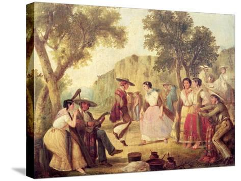 A Popular Dance--Stretched Canvas Print