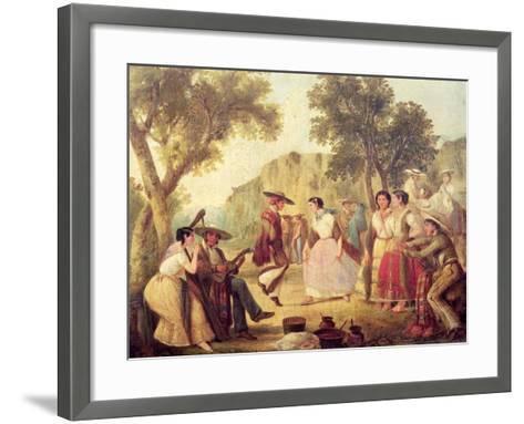A Popular Dance--Framed Art Print