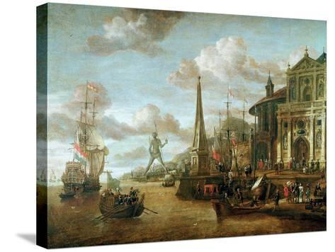 The Port of Rhodes-Abraham Storck-Stretched Canvas Print