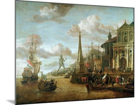The Port of Rhodes-Abraham Storck-Mounted Giclee Print