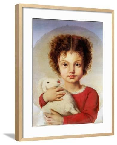 Portrait of the Artist's Daughter, Lina-Luigi Calamatta-Framed Art Print