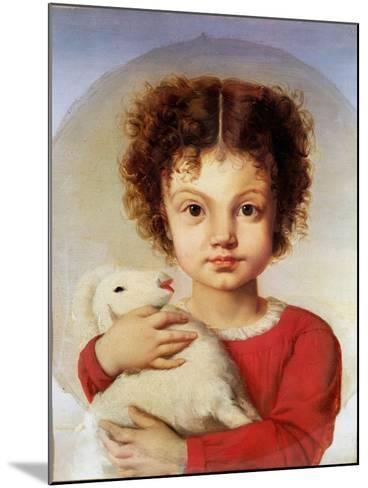 Portrait of the Artist's Daughter, Lina-Luigi Calamatta-Mounted Giclee Print