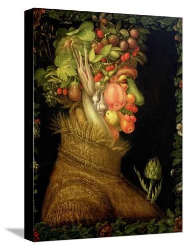 Summer, 1573-Giuseppe Arcimboldo-Stretched Canvas Print